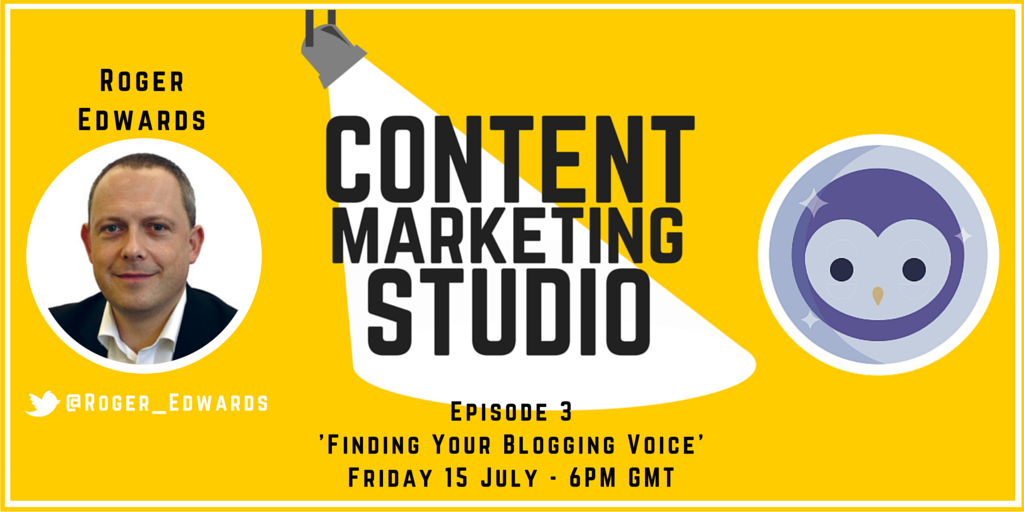 Content Marketing Studio Blab Show with Roger Edwards
