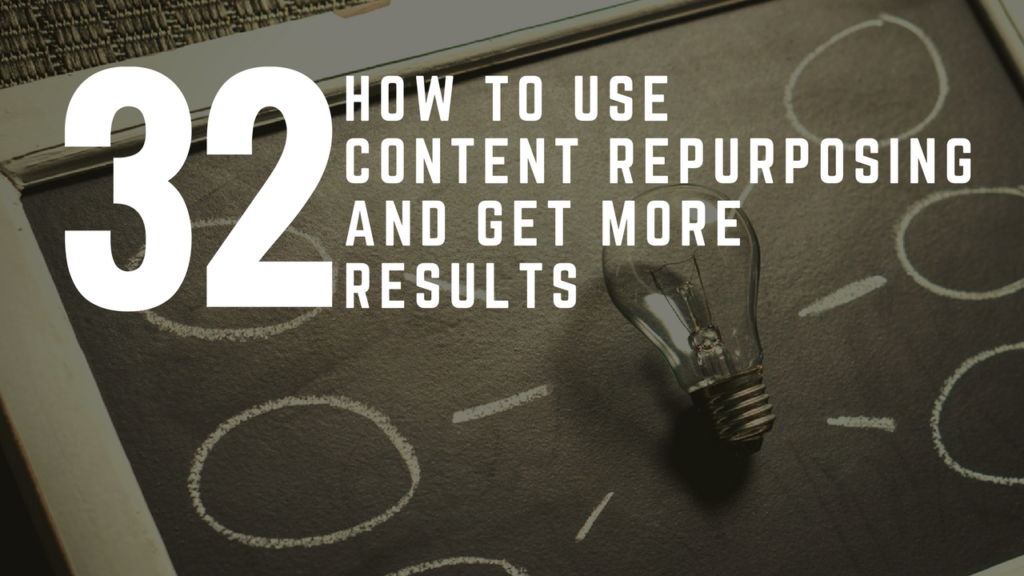 How To Use Content Repurposing And Get More Results