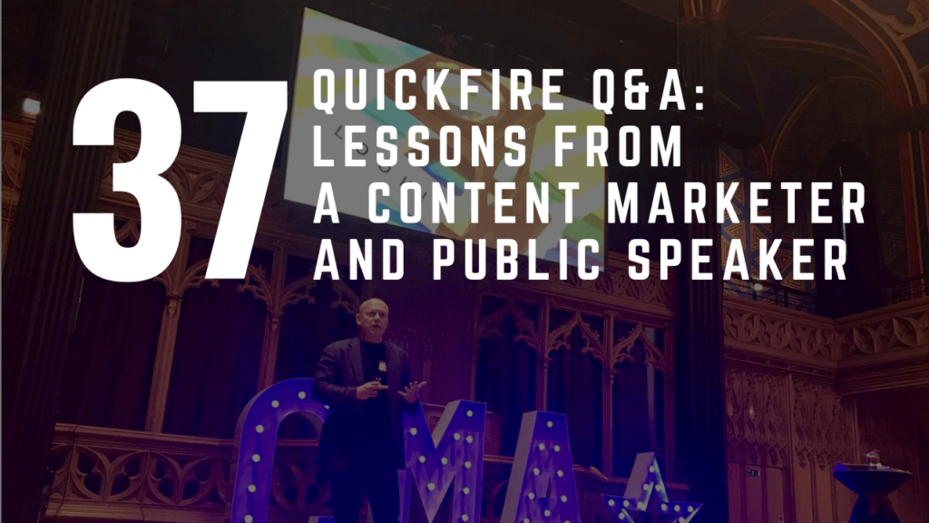 Lessons From A Content Marketer And Public Speaker